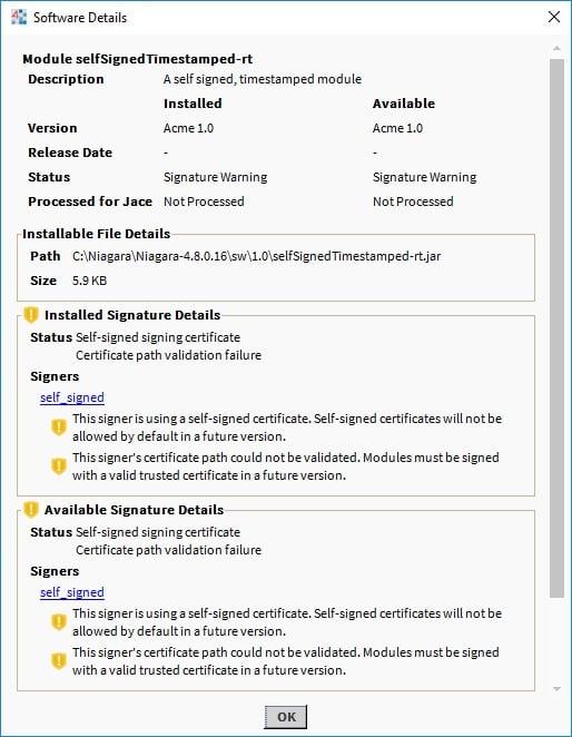 Software details