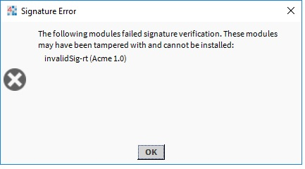 Software manager signature error