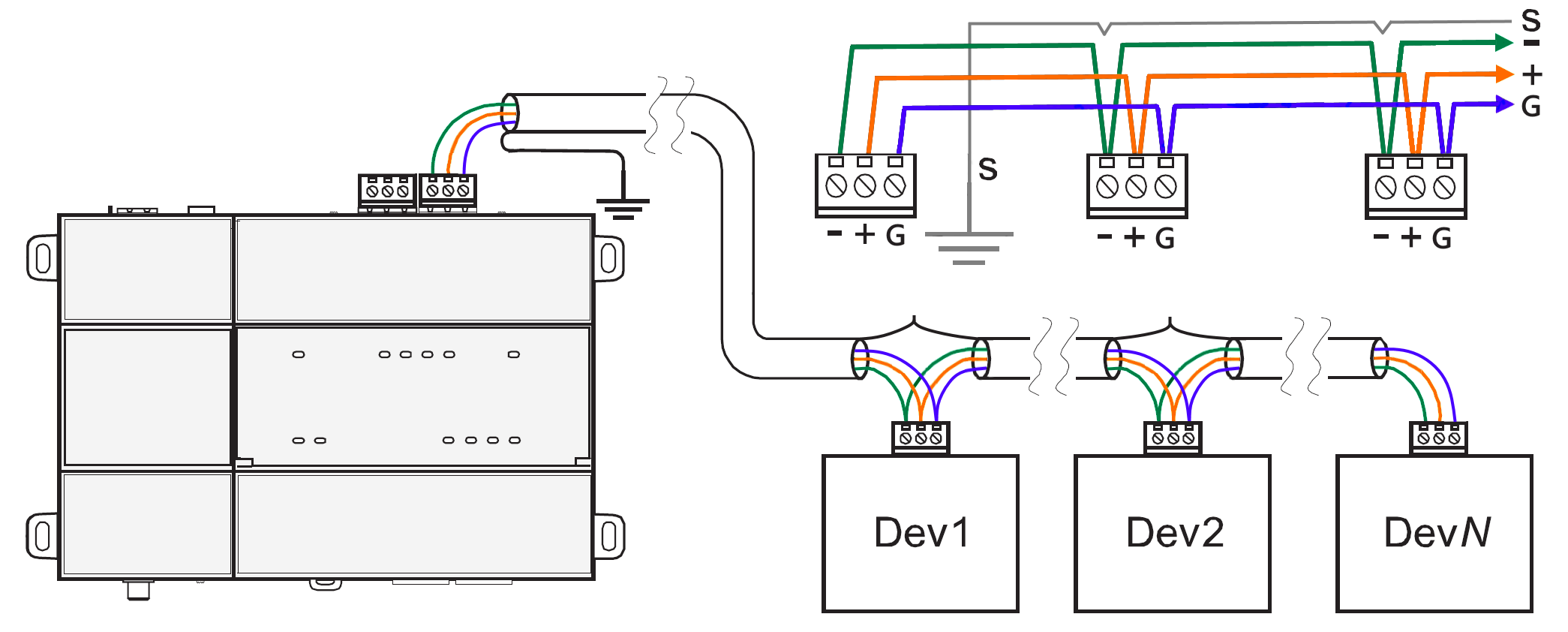 how do i wire rs485 devices